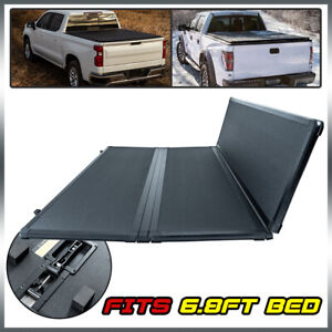 For 99 16 Ford F250 F350 Super Duty 6 8ft Bed Tri fold Tonneau Cover