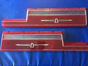 1977 1978 Thunderbird Nos Left And Right Mint Tail Light Lens Perfect Match