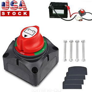 Marine Boat Dual Battery Disconnect Switch Rotary Isolator 1 2 both off 48v
