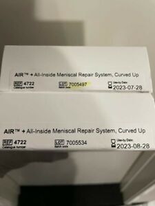Stryker 4722 Air All inside Meniscal Repair System Curved Up Exp 07 28 2023