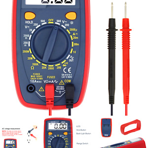 Astroai Digital Multimeter With Ohm Volt Amp And Diode Voltage Tester Meter C