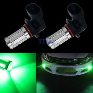 2x Green Led Car Fog Light Driving Bulbs Lamp High Power 9006 Hb4 33smd