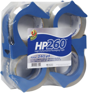 Duck Brand Hp260 Premium Packaging Tape With Dispenser 1 88 X 60 Yds 4 pack