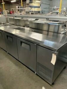True Twt 93 hc 3 door Work Top Cooler W Overshelf Heat Lamp 15837