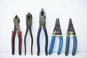 Klein Tools Lot Of Cutters 5pcs Used Ref 0004