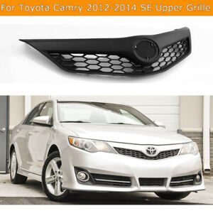 For 2012 2014 Toyota Camry Se Model Front Bumper Black Upper Grille Honeycomb