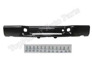 Rear Bumper Black Face Bar With Mount Screws Fits S10 Blazer S15 Jimmy 1998 2001