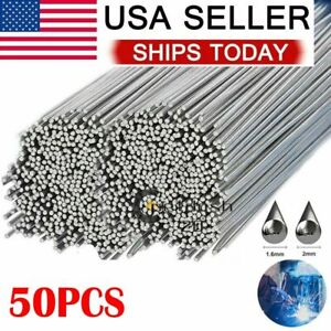 50pc Aluminum Solution Welding Flux cored Rods Wire Brazing Rod 1 6mm X 500mm