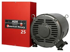 Limited Edition Extreme Duty American Rotary Phase Converter Adx25 25hp 1 To 3ph