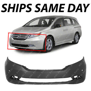 New Primered Front Bumper Cover For 2011 2012 2013 Honda Odyssey Touring W Park