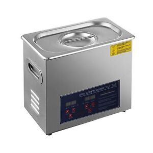 Hihone Ultrasonic Cleaner Stainless Steel Heated Digital Timer Commercial New