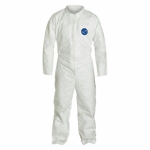 Tyvek 400 Dupont Coveralls White Size Xl Ty120swhxl002500 Box Of 25
