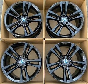 18 Bmw 3 4 Series Oem Wheels Rims Gloss Black Factory 71540 335i 328i 428i 330i