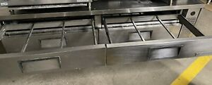 True Chef Base 8 Ft 4 Door 12 Full Size Pan Refrigerated Chef Base