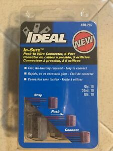 Ideal in sure 5 port Push in Wire Connector 30 287 10 Pieces Per Box