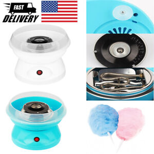 Diy Electric Cotton Candy Maker Portable Floss Carnival Machine Blue White Party