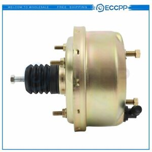 Universal Street Rod 7 zinc Power Brake Booster For Chevy Ford Single Diaphragm
