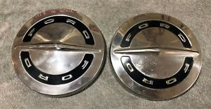 1964 66 Ford Galaxie Fairlane Mustang 10 1 2 Dog Dish Poverty Chrome Hubcaps