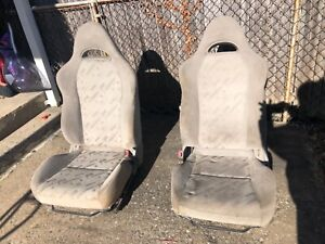 02 06 Acura Rsx Titanium Cloth Oem Seats front Left And Right