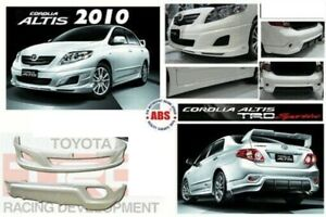 Toyota Corolla 2009 2010 Xrs Altis Trd Sportivo Bumpers Front Rear Skirts Abs