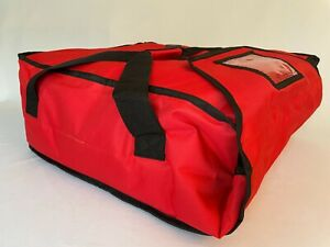 Pizza Delivery Bag Heavy Insulated holds Upto Five 16 Or Four 18 Pizzas red