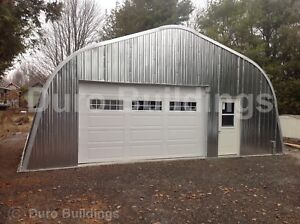 Durospan Steel 40x44x16 Metal Building Shed Storage Kit Open Ends Factory Direct
