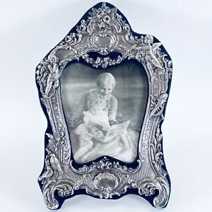 Victorian Style English Repousse Sterling Silver Picture Frame M Ls London 1987