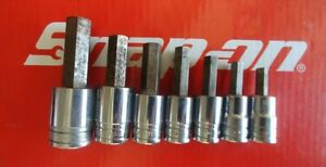 Snap On Tools 1 2 Drive 7 Pc Sae Hex Allen Socket Driver Set 307esay Ships Free
