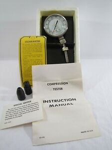 Vintage Sears Compression Tester Model 244 2119 Made In Usa
