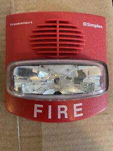 Simplex 4906 9127 Horn Strobe Red Free Shipping