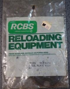 RCBS 4X4 Auto Shell Plate Assembly #04 87604 NOS in package $58.99