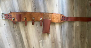 Buckingham Heritage Belt 4 Leather Ring Lineman Pole Climbing Body Belt 41 5