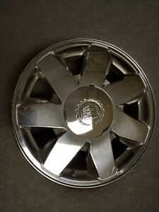 2000 2005 Cadillac Deville Dts 17 Rim Chrome Wheel 7 Spoke Oem Center Cap Tpms