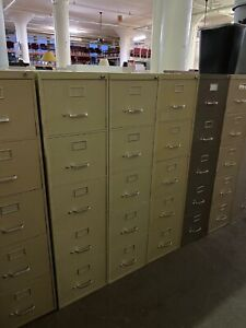 5 Drawer Letter Size File Cabinet By Steelcase Office Furniture W lock key