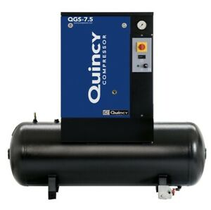2021 New Quincy Qgs 7 5 Rotary Screw Air Compressor 7 5 Hp With 60 Gallon Tank