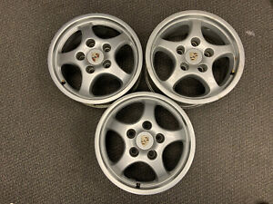 Oem Porsche Cup 1 Wheels Set Of 3 x2 Front16x7 And x1 Rear16x 8 944 968