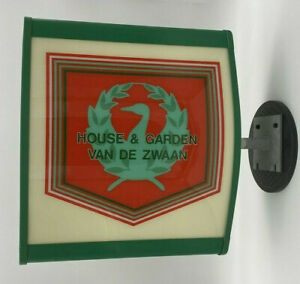 Van De Zwaan House Garden Commercial Lighted Sign Wall Mounted Double 2 sided