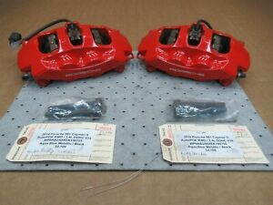 14 Cayman S Porsche 981 Front Brembo Brake Calipers 997351421 997351422 32 109