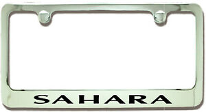 Jeep Sahara Chrome Plated Metal License Plate Frame Holder