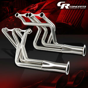 For Chevy V8 Small Block Stainless Exhaust Manifold Long Tube Pipe Racing Header