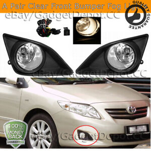 For 2008 2009 2010 Toyota Corolla Altis Bumper Fog Lights Lamps W Switch Wiring