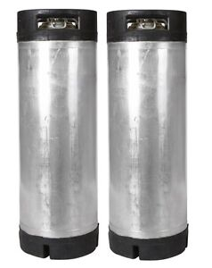 2 Pk 5 Gallon Ball Lock Kegs Reconditioned Homebrew Beer Coffee O ring Kit