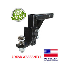 Adjustable Trailer 10 Drop Hitch Ball Mount 2 Receiver With 2 5 16 Hitch Ball