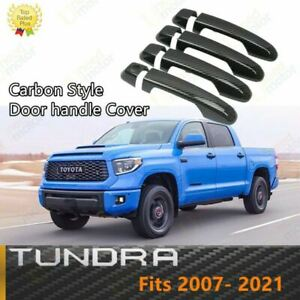 Fit For Toyota Tundra 2007 2021 Color Door Handle Covers Trim Abs Carbon Fiber