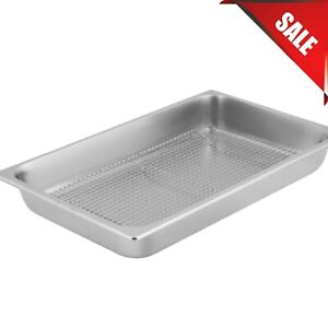 2 1 2 deep Full Size Stainless Steel Fry Dump Station Pan Cooling Rack Pan Grate