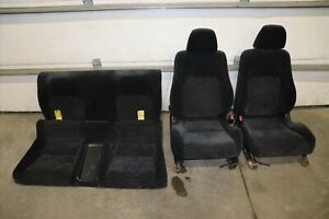 1997 2001 Honda Prelude Front Rear Cloth Seats Charcoal Driver Passenger