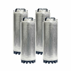 4 Pk 5 Gallon Ball Lock Beer Kegs Reconditioned O ring Kit Homebrew Coffee