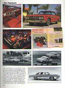 1964 Plymouth Sport Fury 426 Maximum Performance Wedge Article Must See