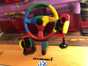 Vw Harlequin Jet Momo Steering Wheel With Knob Cup Phone Holder Benetton L