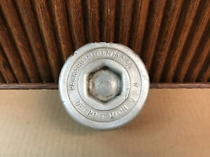 Antique Packard Threaded Screw on Hub Cap Grease Nut Antique Hubcap
